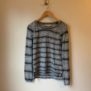 Lucky Brand Striped Sweater with Buttons